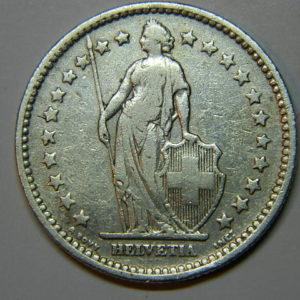 2 Francs Suisse 1906B TTB Argent 835 °/°°  EB90215