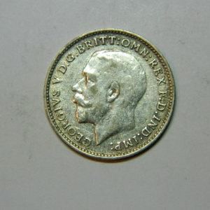 3 Pence Georges V 1ère Effigie1925 TTB Royaume Uni Argent 500 °/°° SI90353