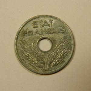 20 Centimes Etat Français Zinc 1941 TTB EB90085