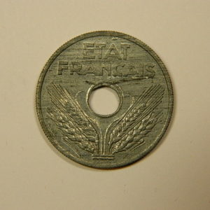 20 Centimes Etat Français Zinc 1941 SPL EB90086