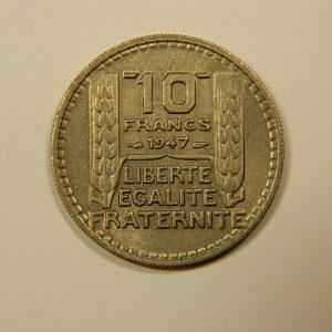 10 Francs Turin 1947 PT SUP  EB90092