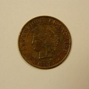 1 Centime Cérès 1887 A TTB +  EB90093