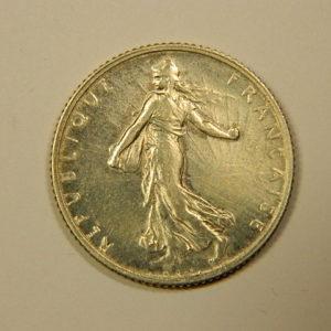 1 Franc Semeuse 1909 SUP Argent   835°/°° EB90095