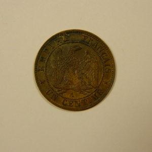 1 Centime Napoléon III tête nue 1853A SUP EB90099