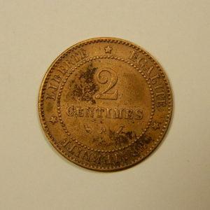 2 Centimes Cérès 1886 A TTB   EB90107