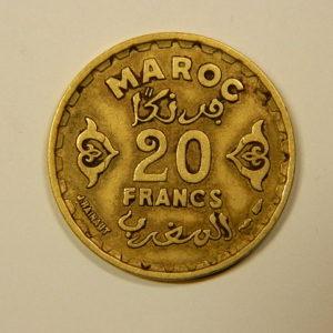 20 Francs 1371-1951 TTB Mohamed V MAROC EB90110