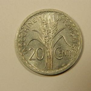 20 Centimes Indochine Française 1945 SPL EB90112