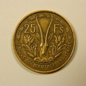 25 Francs Afrique Occidentale Française 1956 SUP++ EB90113