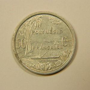 50 Centimes  Polynésie Française 1965 SUP EB90114