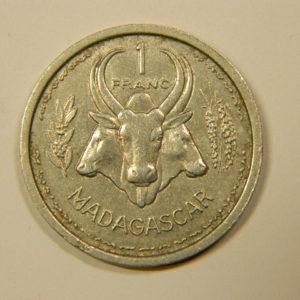 1 Franc Madagascar Union Française1948 SUP EB90116