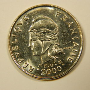 10 Francs Océanie Polynésie Française 2000 SUP EB90117
