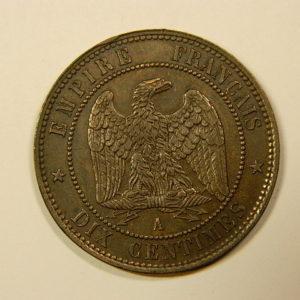 10 Centimes Napoléon III tête nue 1852A SUP EB90118