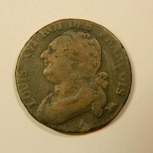 12 DENIERS Louis XVI 1793A An5 Léopard TB EB90121