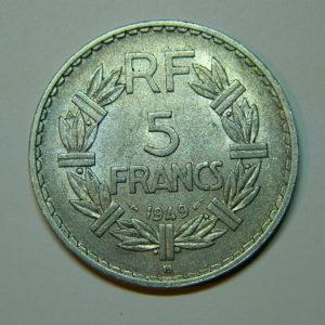 5 Francs Lavrillier 1949B SUP EB90002