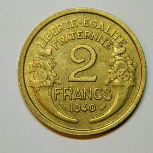 2 Francs Morlon 1940 SUP EB90006