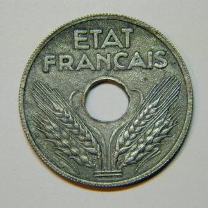 20 Centimes Etat Français Zinc 1942 SUP EB90012