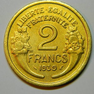 2 Francs Morlon 1939 SPL EB90015