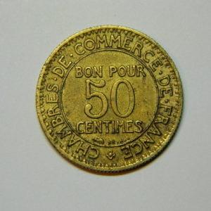 50 Centimes Chambre de commerce 1922 SUP EB90018