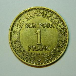 1 Franc Chambre de commerce 1921 SUP EB90025
