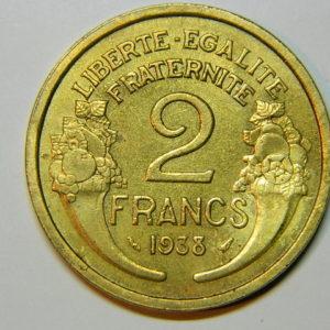 2 Francs Morlon 1938 SUP EB90027