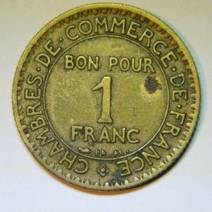 1 Franc Chambre de commerce 1922 SUP EB90029