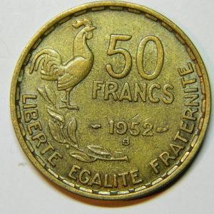 50 Francs Guiraud 1952B  SUP EB90035