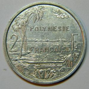 2 Francs Océanie Polynésie Française 1999 SUP EB90043