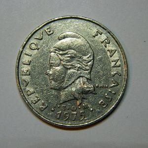 20 Francs Océanie Polynésie Française 1975 TTB EB90047