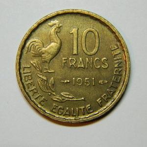10 Francs Guiraud 1951 SUP EB90061