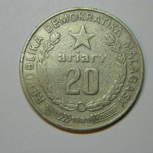 20 Ariary 1983 Madagascar Afrique TB EB90074