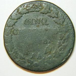 5 Centimes DUPRE An 8AA  B EB90076