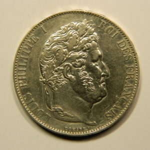 """5 Francs Louis-Philippe Ier Type""""I"""" 1847A SUP EB90172"""