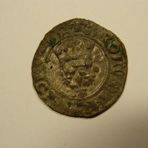 Gros dit « florette » Charles VI 1417 Paris TTB- EB90526