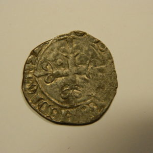 Gros dit « florette » Charles VI 1417 Paris TTB variante un point sous une coronelle EB90528