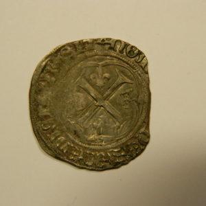 Blanc à la couronne Charles VIII 1483/98 TB- EB90530