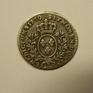 1/10ème D'ECU au Bandeau Louis XV 1759D TTB++ EB90535