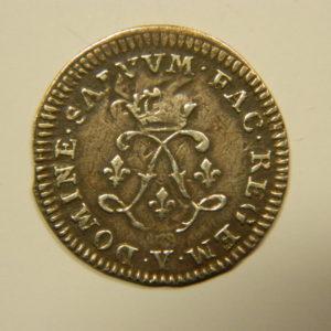 4 Sols aux 2L Louis XIV 1692Y TTB RARE Argent 798°/°° EB90536