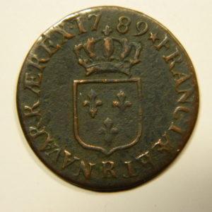 DEMI SOL Louis XVI 1789R TTB+ RARE EB90538