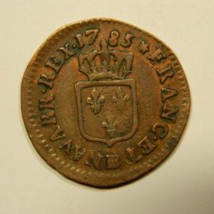 Liard à l'Ecu Louis XVI 1785BB TB++ R2 RARE EB90541