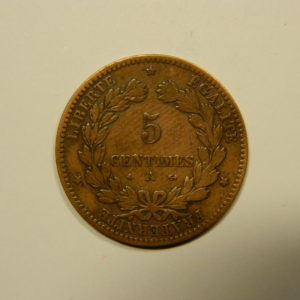 5 Centimes Cérès 1879A Ancre  TB   EB90547