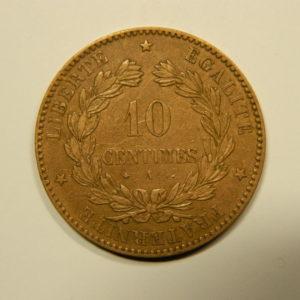 10 Centimes Cérès1876A TTB EB90549