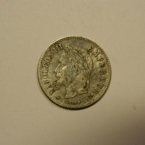 20 Centimes Napoléon III Tête laurée 1866A Petit Module SUP Argent 835°/°° EB90554