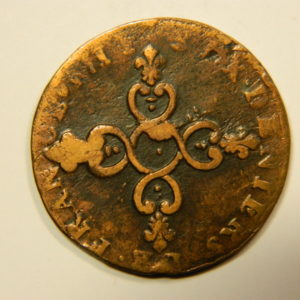 6 Deniers dits « Dardenne » Louis XIV 1710/12& Aix TB EB90559