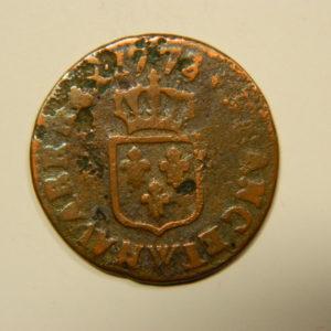 Liard Louis XV à la vieille tête 1773W TB EB90567
