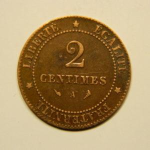 2 Centimes Cérès 1897A Torche SUP EB90584