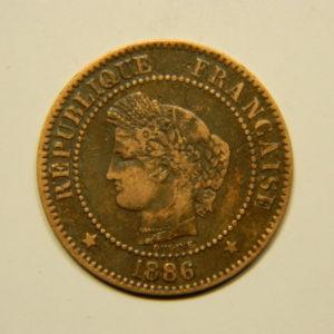 2 Centimes Cérès 1886A  TTB EB90586