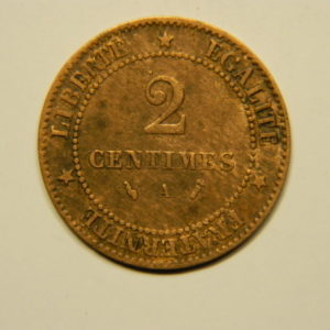2 Centimes Cérès 1886A  TTB EB90587