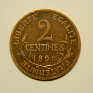 2 Centimes Daniel Dupuis1899 SUP EB90589