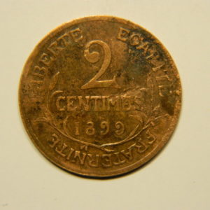 2 Centimes Daniel Dupuis1899 TTB+ EB90591