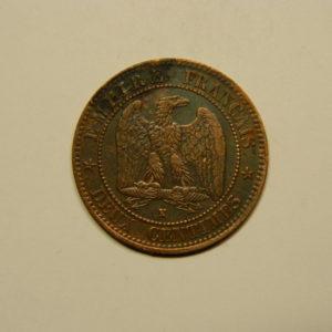 2 Centimes Napoléon III tête Laurée 1862K TTB EB90624
